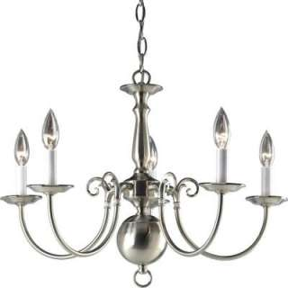 Progress Lighting Americana Collection Brushed Nickel 5 light