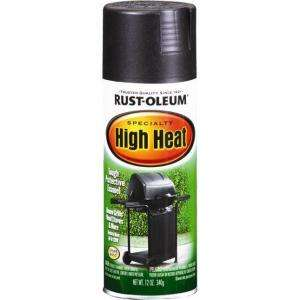 Rust Oleum 12 oz. Flat Black Specialty High Heat Spray Paint 7778830