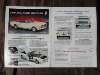 1991 Print Ad Danbury Mint 1966 Ford Mustang Toy Model Car