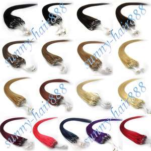 Remy EASY Loops Micro Rings Human Hair ExtensionS 100S