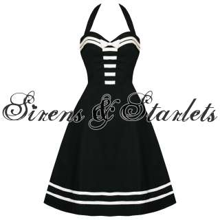 DEAD THREADS BLACK NAUTICAL SAILOR ROCKABILLY DRESS