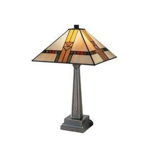 Dale Tiffany 8655 551 Mission 1 Light Table Lamp in Chocolate Bronze