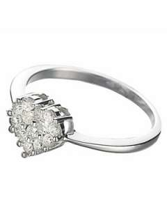 Carat White Gold Diamond Heart Cluster Engagement Ring Very.co.uk