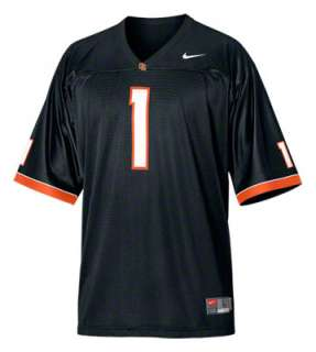 Oregon State Beavers Youth Black Nike Replica Football Jersey
