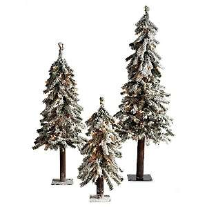 ™ for Gradinroad Red Pre Lit Flocked Alpine Trees   36