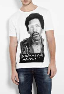 Raw Power  White Hendrix Mug Shot T Shirt by Raw Power