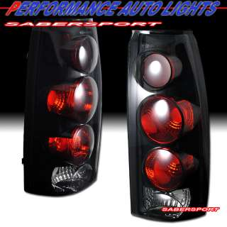 GMC CK C10 FULL SIZE BLACK SMOKE ALTEZZA STYLE TAIL LIGHTS PAIR
