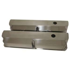 289 302 351W 5.0L Fabricated Polished Aluminum Valve Covers   Smooth