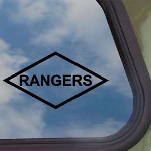 Rangers Lozenge Patch Style Black Decal Car Sticker
