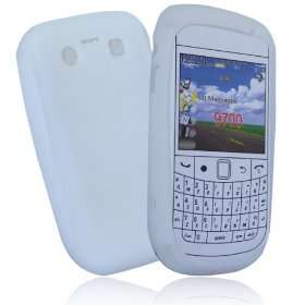 White gel case cover pouch holster for blackberry bold 9700
