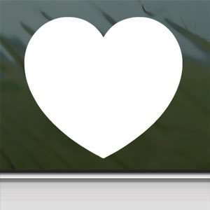Small Heart White Sticker Car Laptop Vinyl Window White