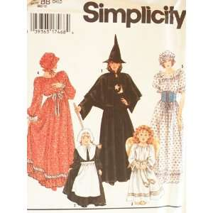Simplicity Sewing Pattern 9982. Girls Sizes 2/4; 6/8; 10/12 Costumes