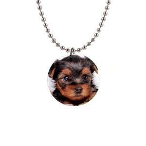 Yorkshire Terrier Puppy Dog 8 Button Necklace B0655