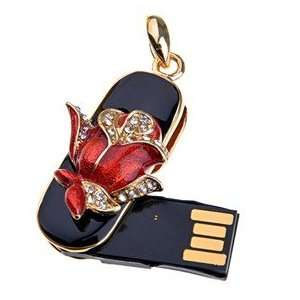 4GB USB Flash Memory Drive Jewelry Rose U Disk Christmas Electronics