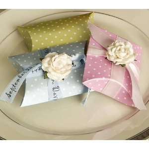 Polka Dot Pillow Box Favors with 2 chocolates