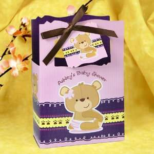Girl Teddy Bear   Classic Personalized Baby Shower Favor Boxes Toys