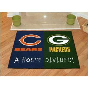 Chicago Bears / Green Bay Packers House Divided NFL All Star Floor