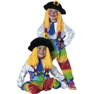 Yarn Babies Colorful Clown Toddler Costume 2 4