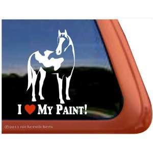 Love My Paint American Paint Horse Trailer Vinyl Window Decal Sticker