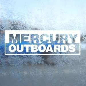 MERCURY OUTBOARD White Decal Car Window Laptop White