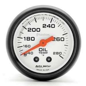 Auto Meter Phantom Analog Gauges Gauge, Phantom, Oil Temperature, 140