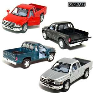 Set of 4 5 Dodge Ram Pickup Truck 144 Scale (Black/Green/Red/Silver