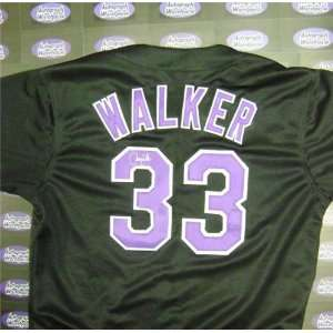 Larry Walker Autographed/Hand Signed Colorado Rockies