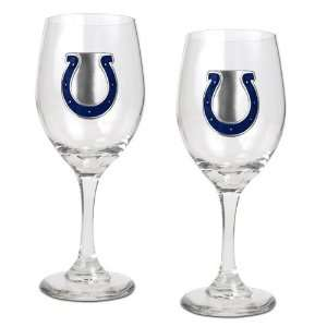 Indianapolis Colts NFL 2pc Wine Glass Set