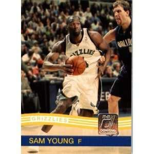 2010 / 2011 Donruss # 94 Sam Young Memphis Grizzlies NBA Trading Card