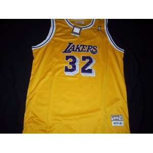 Mitchell and Ness Gold Throwback Jersey Size 56