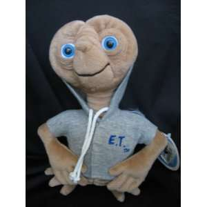 E.T. 9 Plush Doll in Grey Hooded Jacket Toys & Games