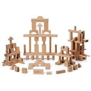 Wooden Building Blocks   Master Builder 104 Pieces Toys