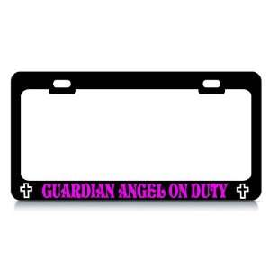 GUARDIAN ANGEL ON DUTY #5 Religious Christian Auto License Plate Frame