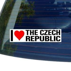 I Love Heart THE CZECH REPUBLIC   Window Bumper Sticker