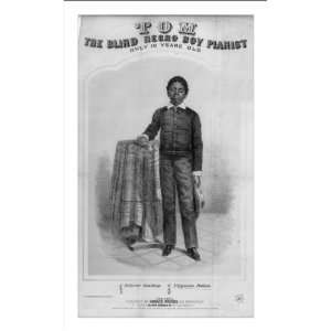 Historic Print (M) Tom, the blind Negro boy pianist, only 10 years