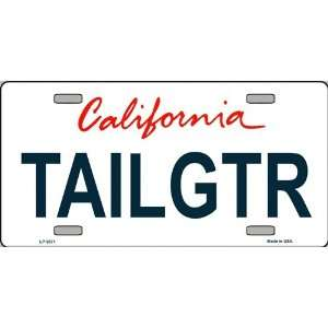 LP 3671 California State Background License Plate