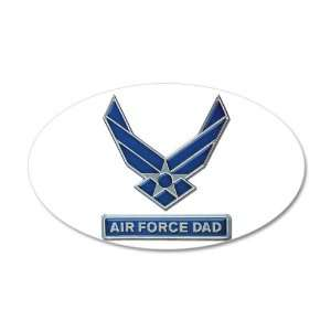38.5x24.5O Wall Vinyl Sticker Air Force Dad