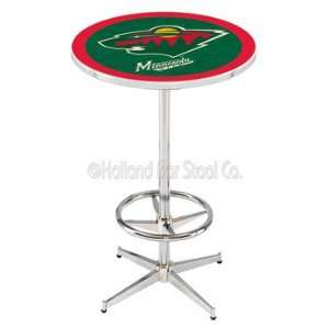Minnesota Wild Chrome Pub Table   NHL Series Everything