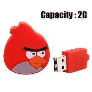 Angry Birds Design 2GB USB Flash Drive Flash Memory U Disk   Red Bird