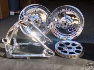 HARLEY SOFTAIL FATBOY CHROME WHEELS RIM & PARTS PACKAGE