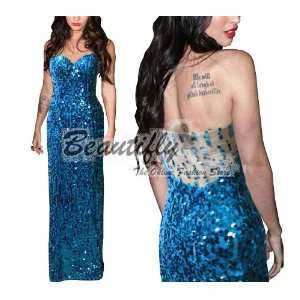 Sequins Cocktail Ball Evening Prom Party Long Formal Gown Women Dress