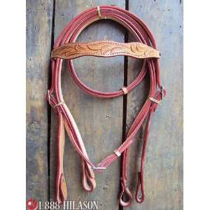 Leather Tack Horse Bridle Headstall With Reins