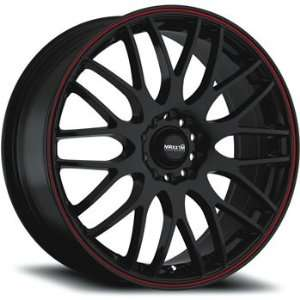 Maxxim Maze 18x7.5 Black Red Wheel / Rim 5x100 & 5x4.5 with a 45mm