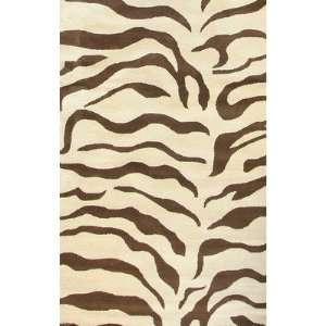 nuLOOM Safari Zebra Brown Contemporary Rug   D302ZEBBRN