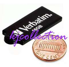 Verbatim 16GB 16G USB Flash Drive Mini Slim BLACK Micro