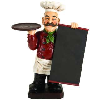 Deluxe Italian Chef With Chalk Board Blackboard Menu Sign and Tray