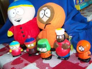 Cartoon PLUSH TOYS+WIND UP Walkers FIGURES LOT Kenny+Cartman+Chef+
