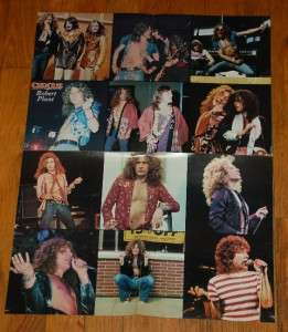 Vintage Circus Magazine Led Zeppelin Robert Plant Poster